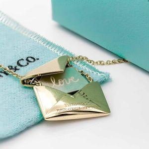 Tiffany & Co. Sweet Nothing Envelope Necklace 18K